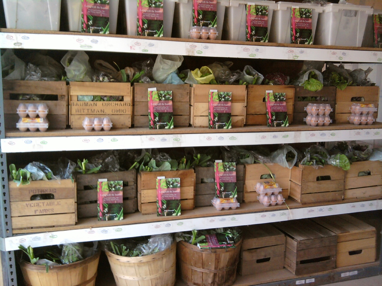 CSA Boxes Ready for Pickup